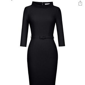 Retro Audrey Hepburn Elegant Collar Dress